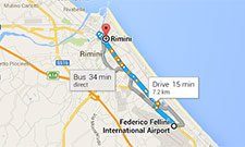 From Rimini airport to the centre of the town
