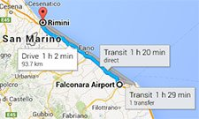 From Ancona airport to Rimini