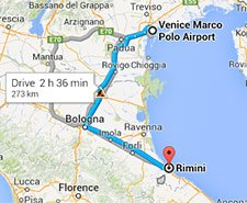 From airports in Venice to Rimini