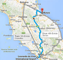 Bologna Rome Distance