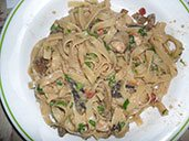 Tagliatelle with porcini mushrooms, Italian cuisine