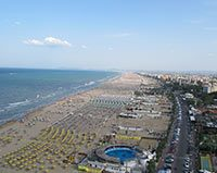 Beach in Rimini, Italy